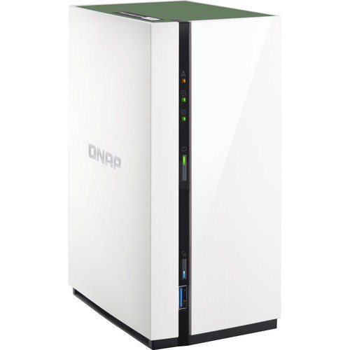 QNAP TS-228A SAN/NAS STORAGE SYSTEM - REALTEK QUAD-CORE (4 CORE)    1 40  GHZ - 2 X HDD SUPPORTED - 1 GB RAM DDR4 SDRAM - SERIAL ATA/600 CONTROLLER -