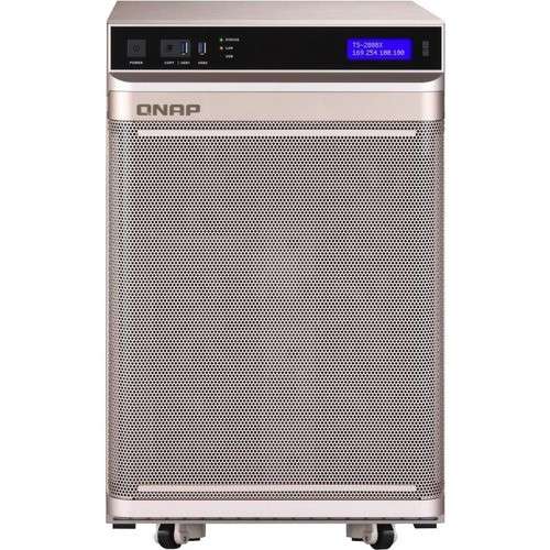 QNAP TS-2888X AI-READY NAS - INTEL XEON W-2123 QUAD-CORE (4 CORE)    3 60  GHZ - 8 X HDD SUPPORTED - 20 X SSD SUPPORTED - 32 GB RAM DDR4 SDRAM -  SERIAL